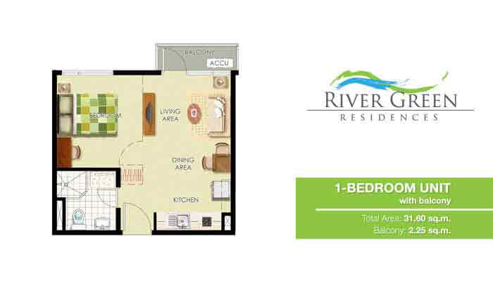 River Green Residences - 1 Bedroom Unit