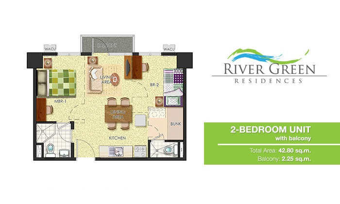River Green Residences - 2 Bedroom Unit