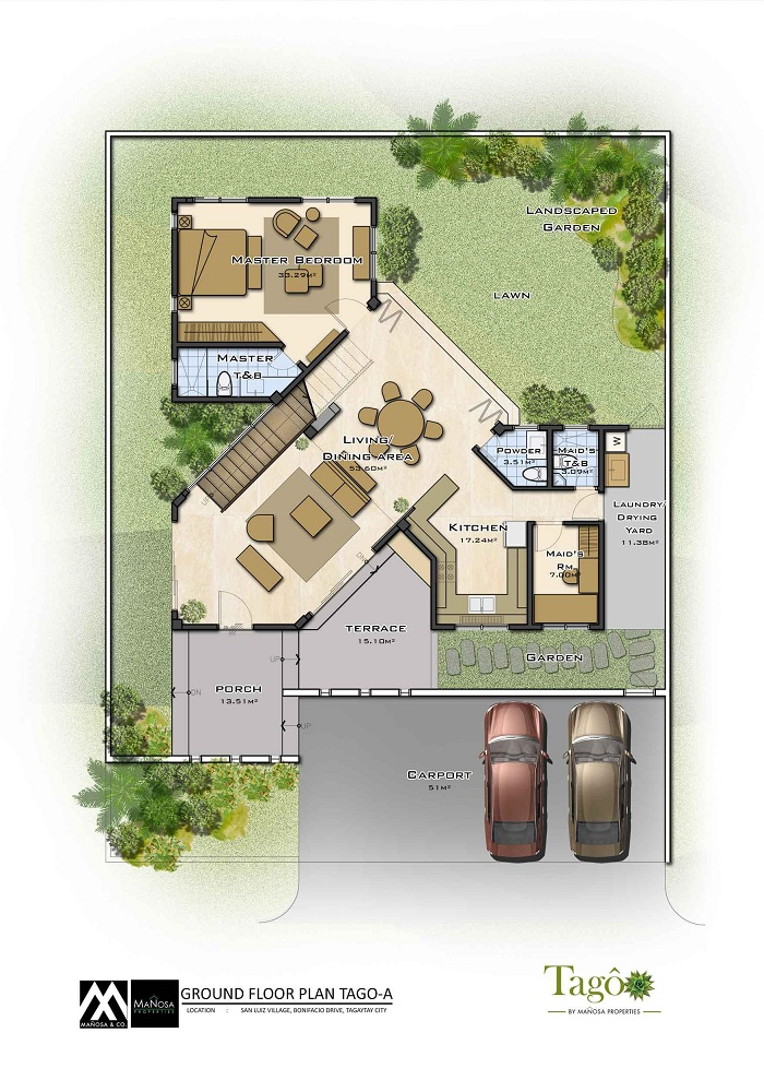Tago - Ground Floor Plan - Ara-al Home