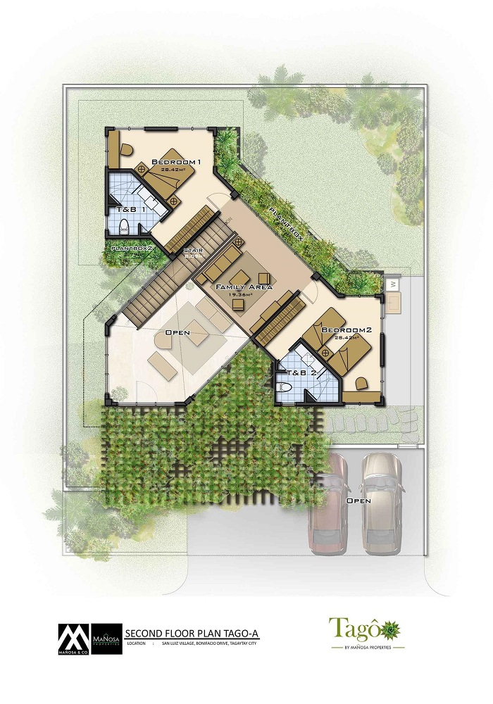 Tago - Second Floor Plan - Ara-al Home