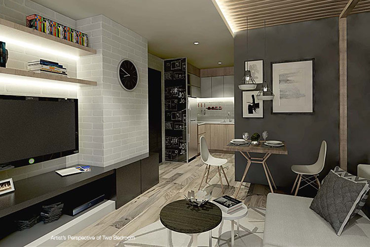 Pixel Residences - Living & Dining Area