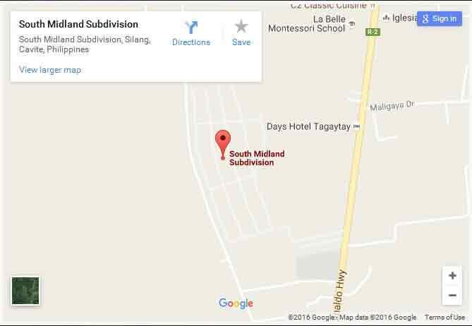 South Midland - Location Map