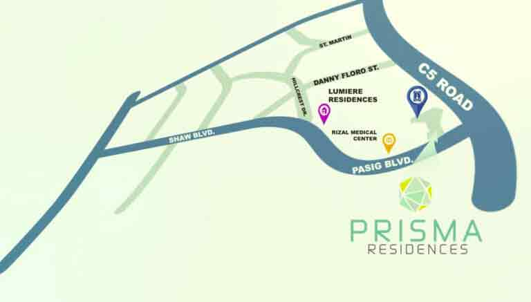 Prisma Residences - Location & Vicinity