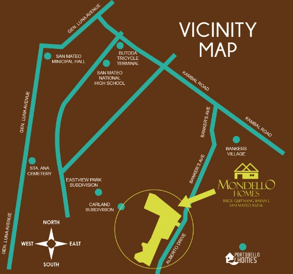 Mondello Homes - Location & Vicinity
