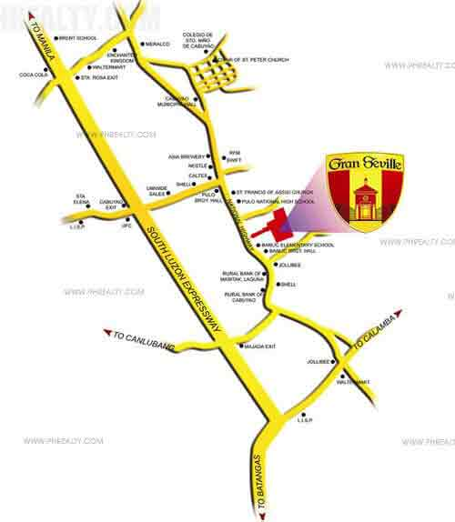 Gran Seville - Location Map