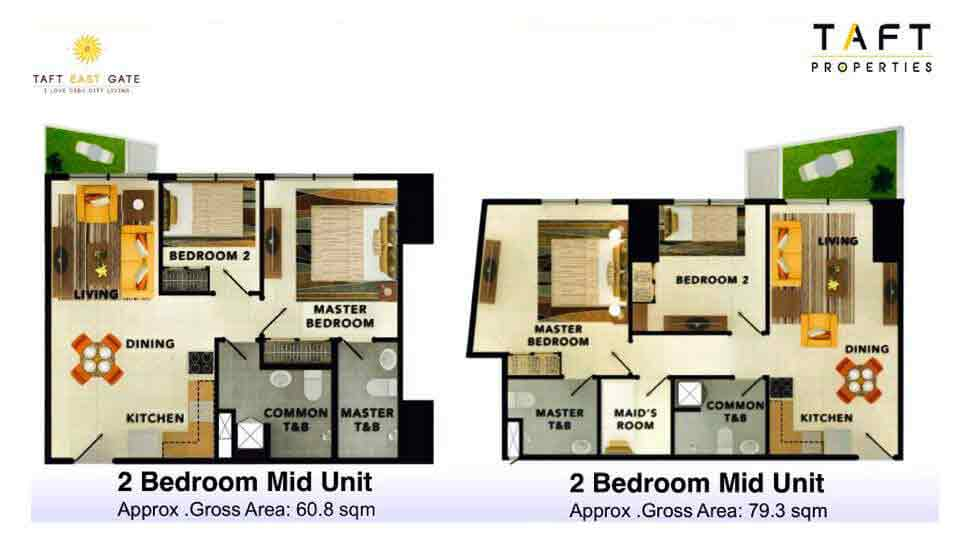 Taft East Gate - 2 Bedroom Mid Unit