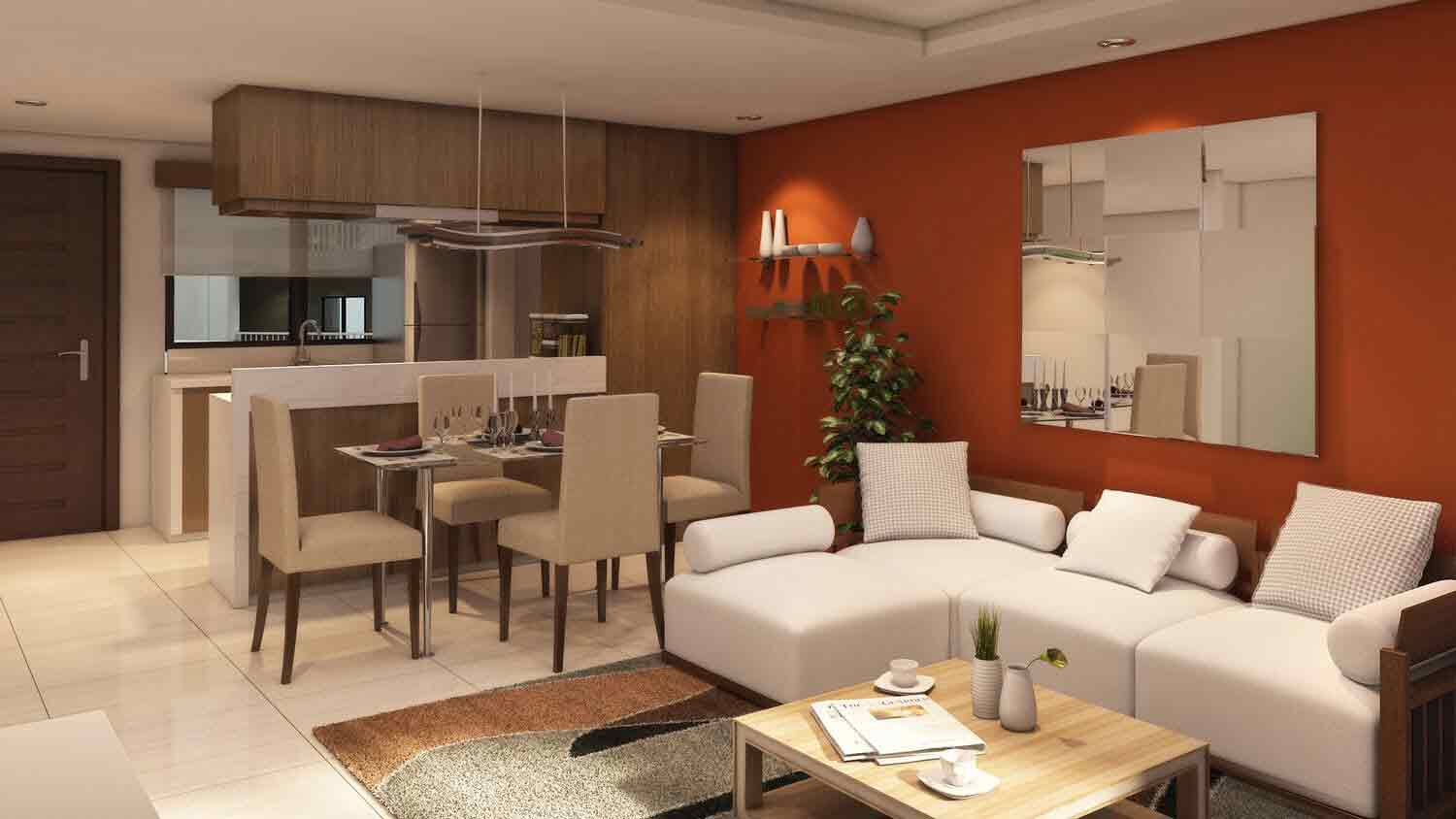 Soltana Nature Residences - Living & Dining Area