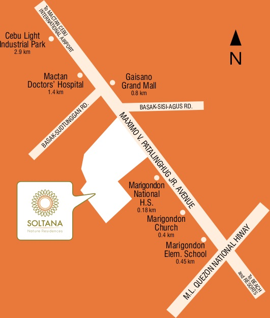 Soltana Nature Residences - Location Map