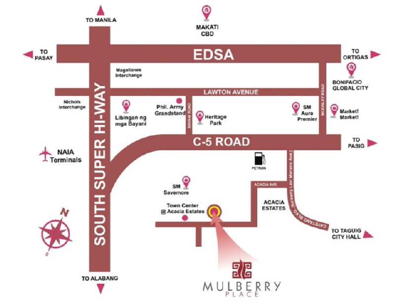 Mulberry Place - Location & Vicinity