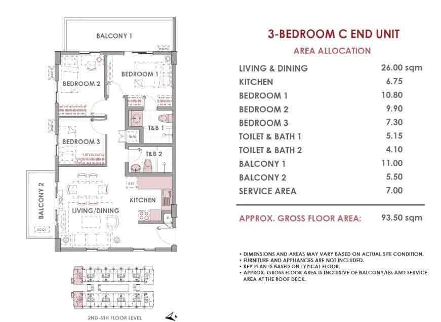 Mulberry Place - 3 Bedroom C - End Unit