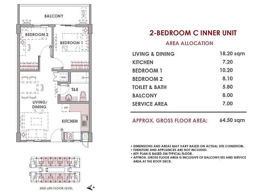 Mulberry Place - 2 Bedroom C Inner Unit