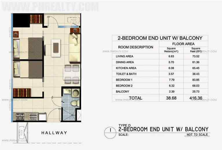 Fame Residences - Unit Plan 38SQM