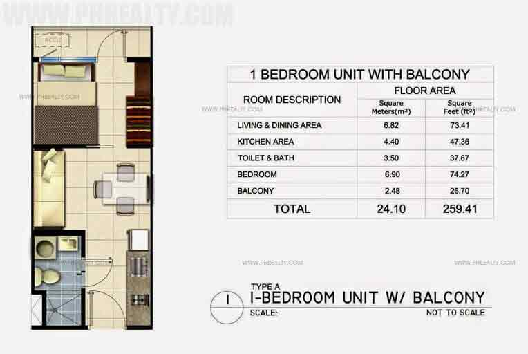 Fame Residences - Unit Plan 24SQM