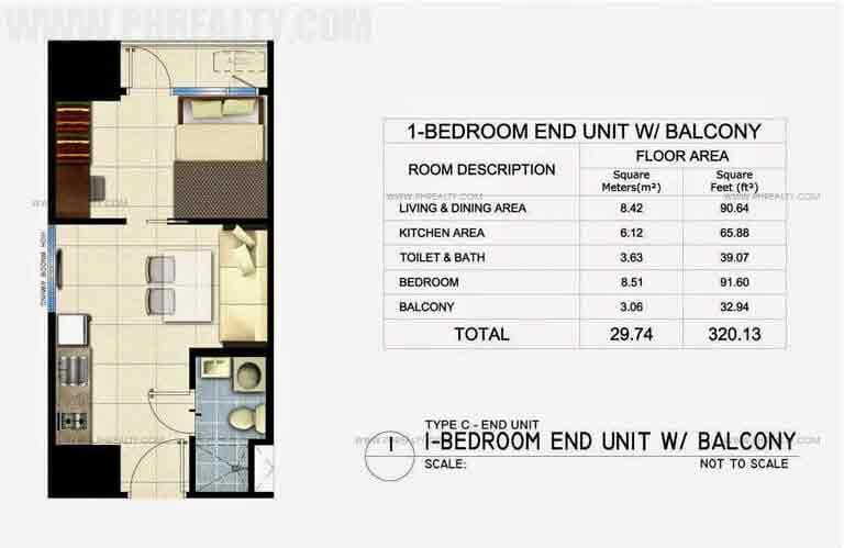 Fame Residences - Unit Plan 29SQM