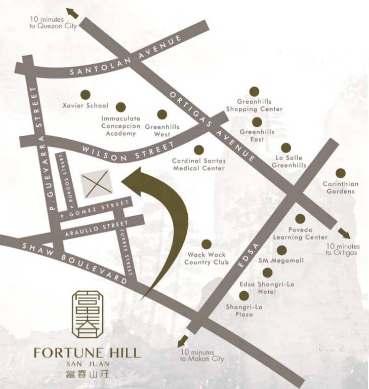 Fortune Hill - Location Map