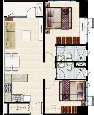 Shore 2 Residences - Two Bedroom Unit