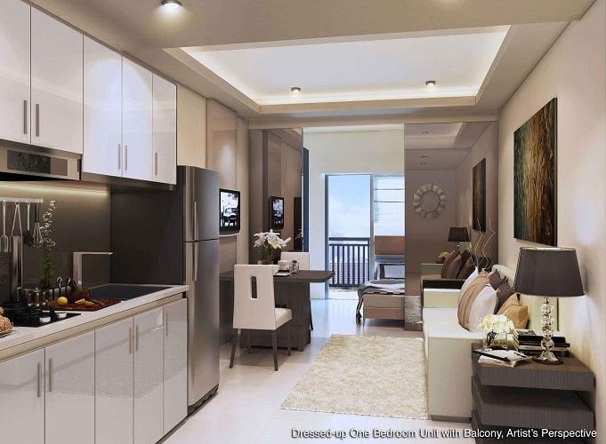 Shore 3 residences preselling condominium for sale in for Interior design for 1 bedroom condo unit