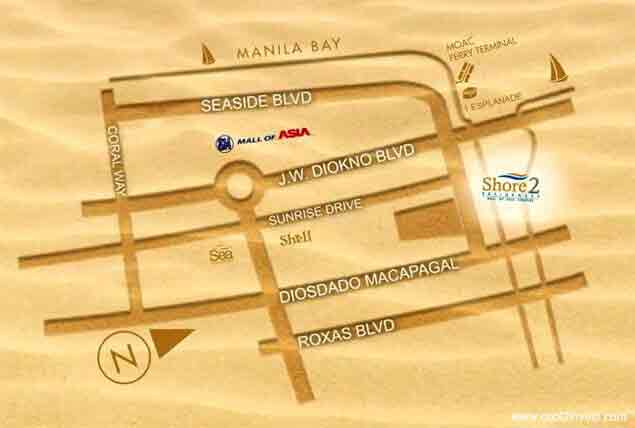 Shore 2 Residences - Location Map