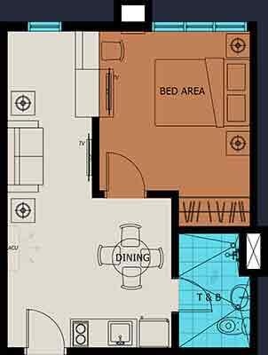Vista Suarez Cebu - 1 Bedroom Unit Plan