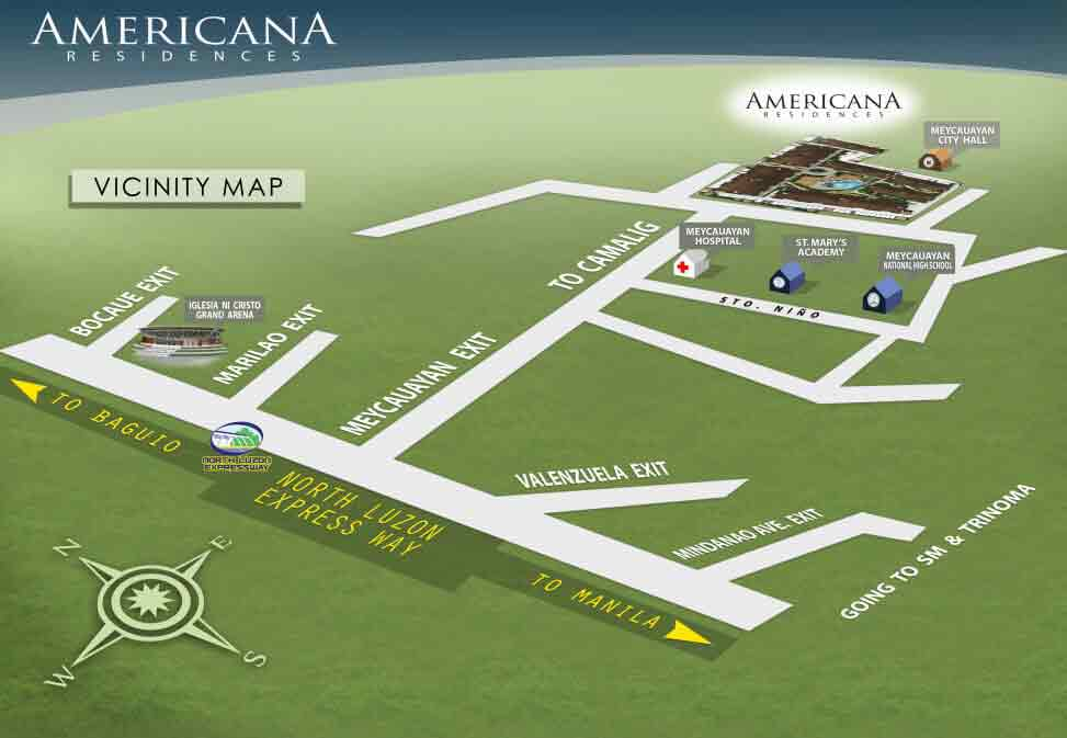 The Americana Residences - Location Map