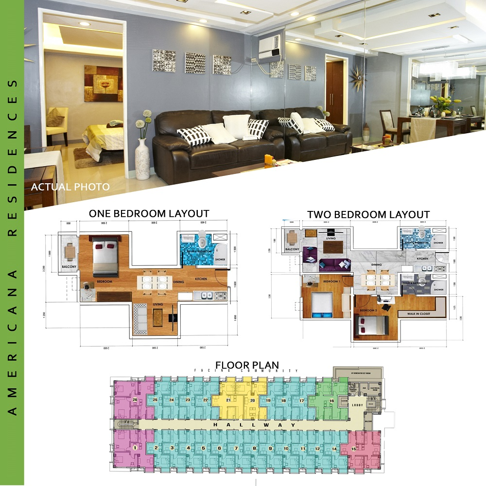 The Americana Residences - Unit and Floor Layout