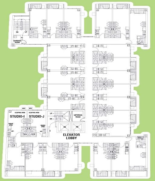 Symfoni Kamias - Typical Building Floor Plan