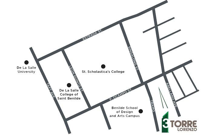 3 Torre Lorenzo  - Location Map