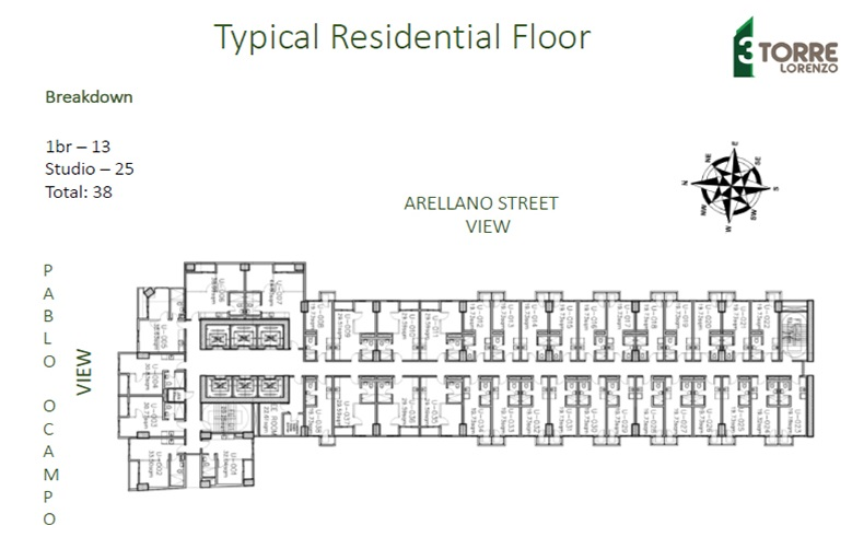 3 Torre Lorenzo  - Typical Residential Floor
