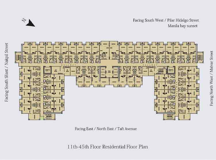 Victoria De Manila - Residential Floor Plan