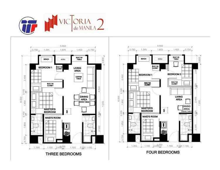 Victoria De Manila 2 - Typical Floor Plan