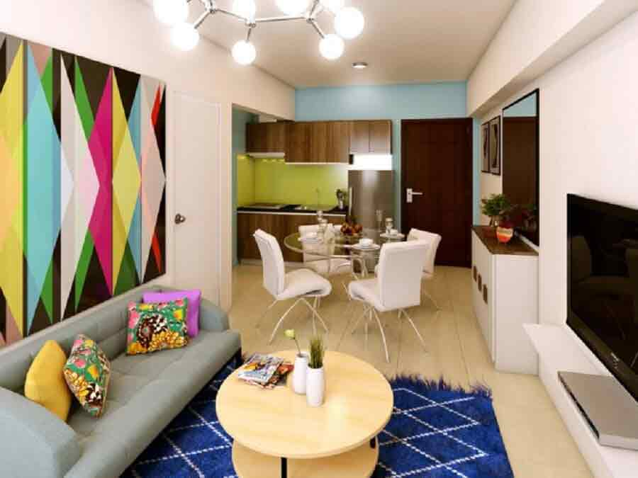 Avida Towers Turf BGC - Living, Dining and Kitchen
