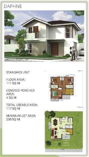 Hillcrest Estates Nuvali  - Daphine Model Plan