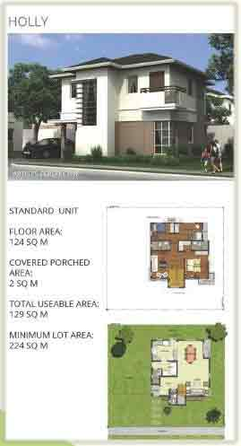 Hillcrest Estates Nuvali  - Holly Model Plan