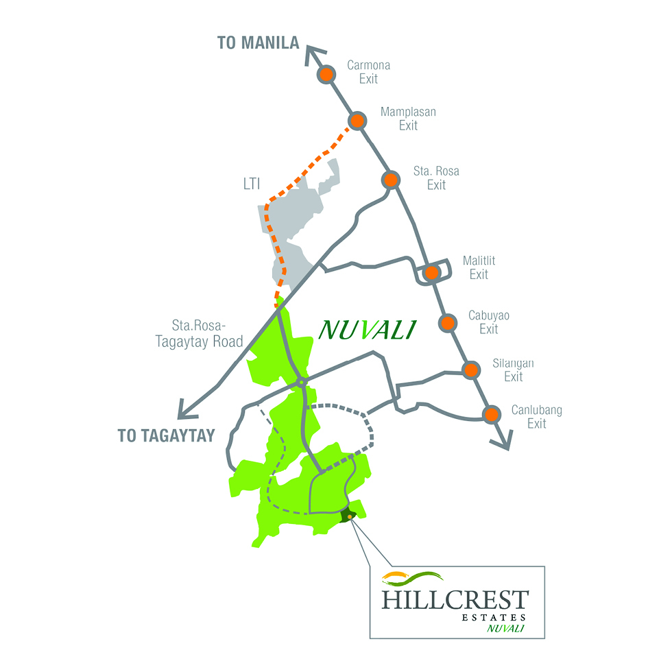 Hillcrest Estates Nuvali  - Location & Vicintiy