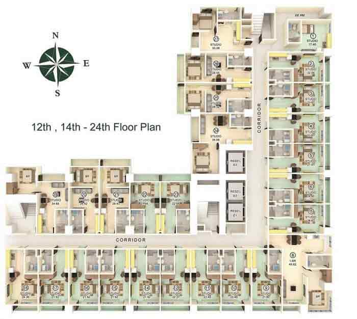 Milan Residenze Fairview - Typical Floor Plan