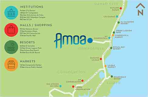 Amoa Cebu - Location Map