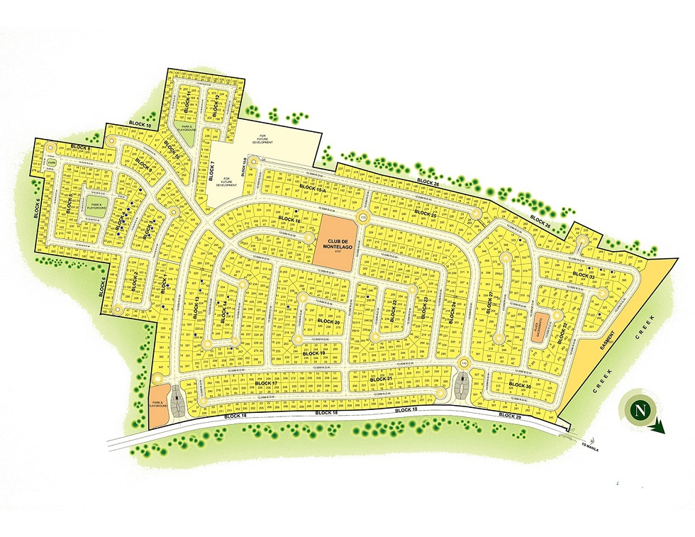 Montelago Nature Estates - Site Development Plan