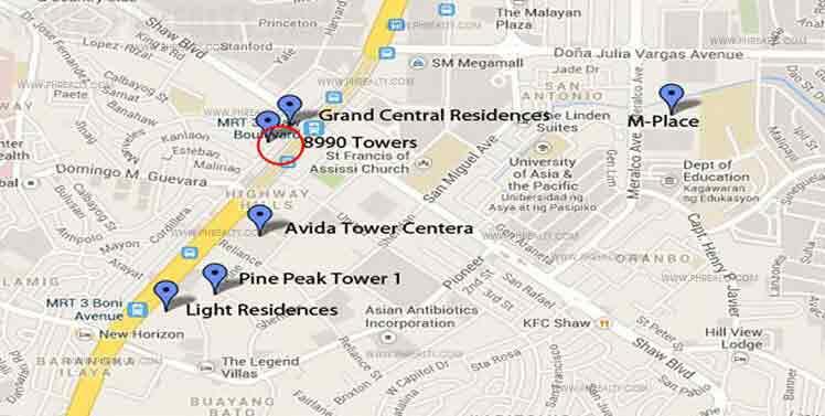 Urban Deca Towers EDSA - Location & Vicinity