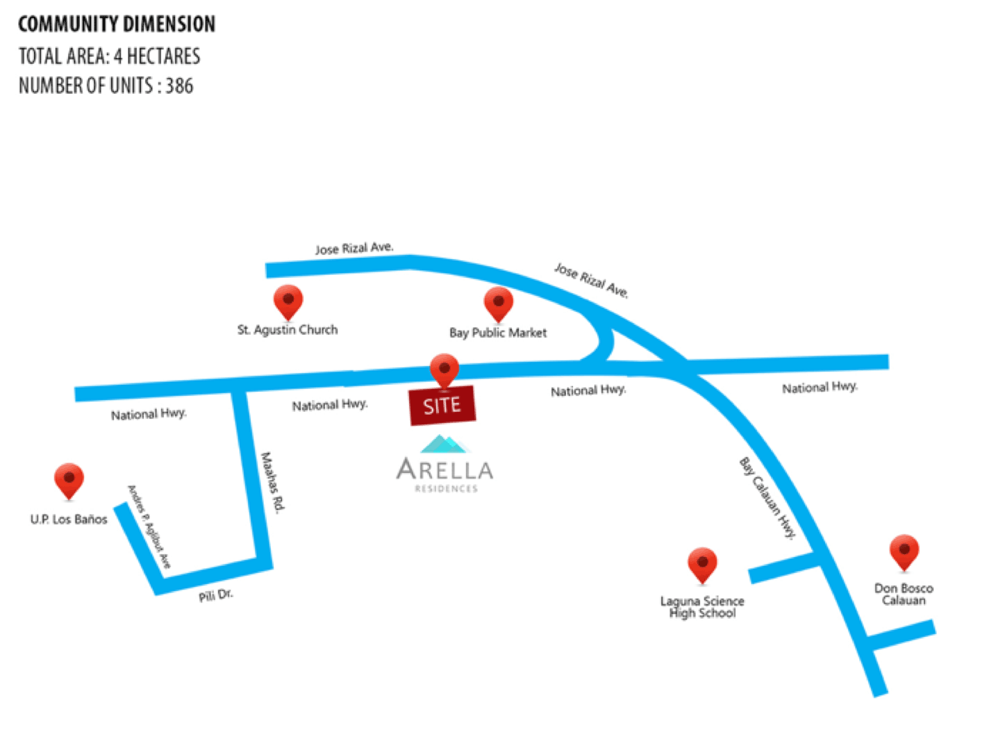 Arella Residences - Location & Vicinity