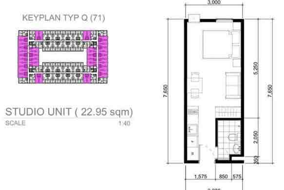 Arezzo Place - Studio Unit