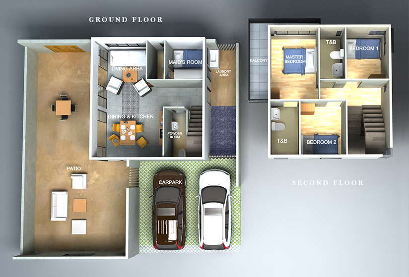 Seafront Residences - 3 Bedroom Floor Plan