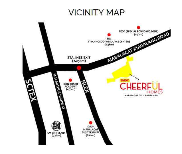 SMDC Cheerful Homes - Location & Vicinity