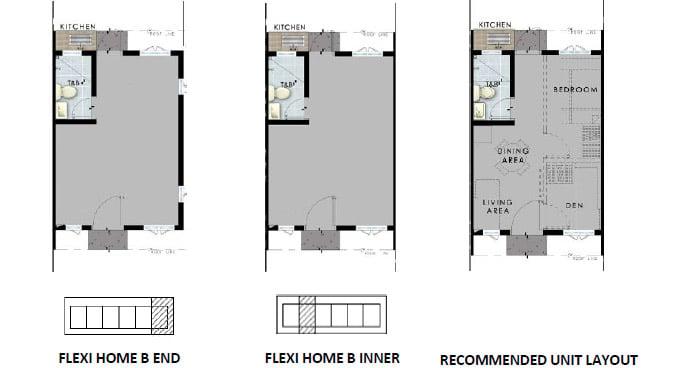 SMDC Cheerful Homes - Flexi Home B Unit Plans