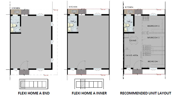 SMDC Cheerful Homes - Flexi Home A Unit Plans