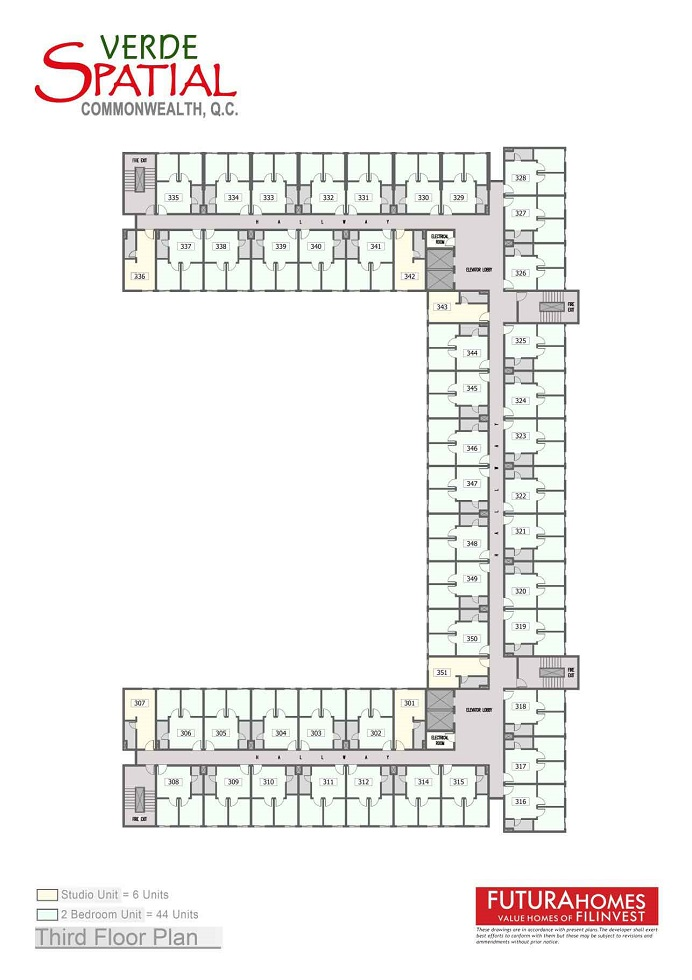 Verde Spatial - Third Floor Plan