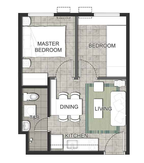 Verde Spatial - Two Bedroom Unit