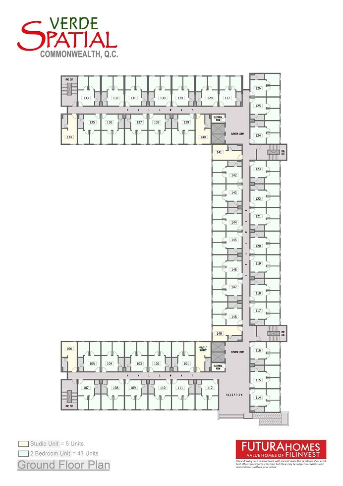 Verde Spatial - Fifth Floor Plan
