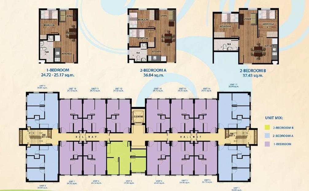 Moldex Residences Valenzuela - Caramoan Floor Plan