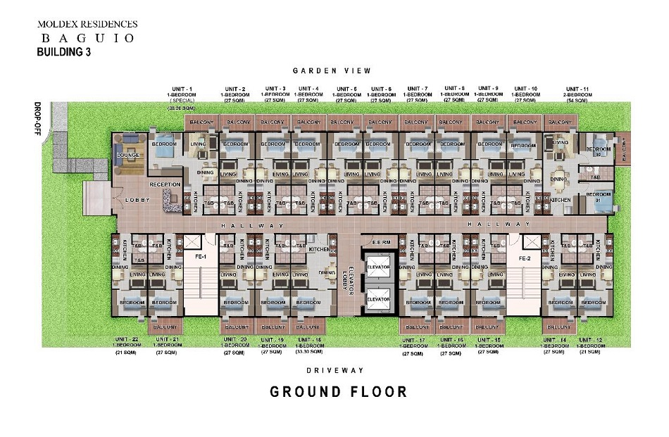 Moldex Residences Baguio - Ground Floor Plan