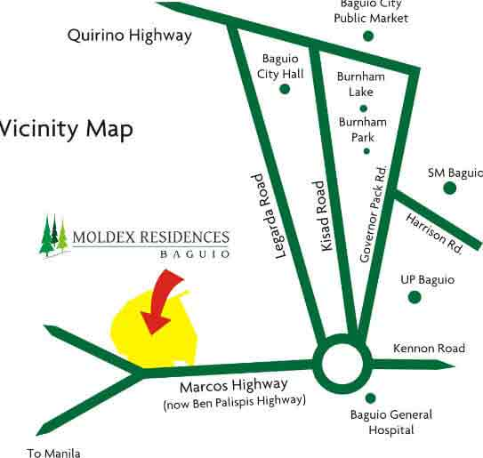 Moldex Residences Baguio - Location & Vicinity Plan
